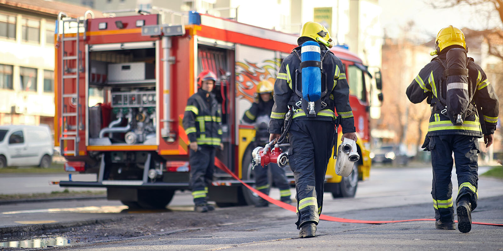 firefighters successfully completed the dangerous firefighting